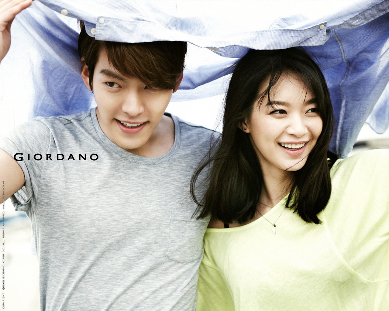 Shin Min Ah and Kim Woo Bin - Giordano Summer 2014 (7)