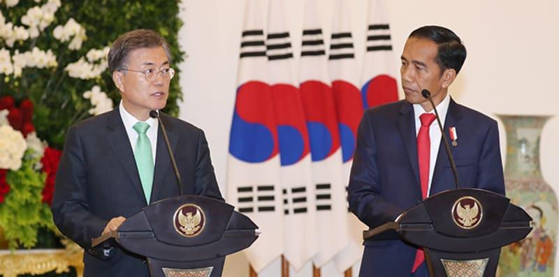 presiden-moon-jae-in-dan-presiden-jokowi